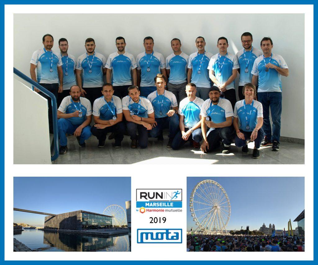 L'équipe MOTA au Marseille Run-in